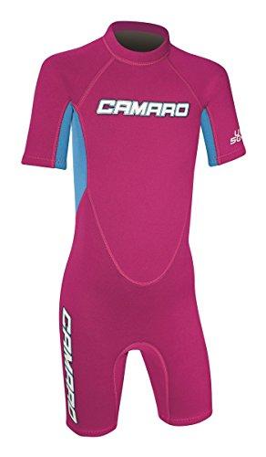 CAMARO Flex Kinder Shorty Toddler Reactor Spring Neopren Neoprenanzug Schwimmanzug pink