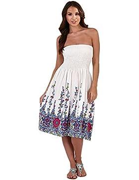 Vestido Veraniego Foral de Dama 3 en 1 de algodón Pistachio