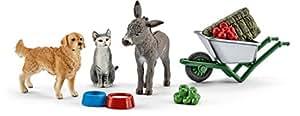 Schleich 41423 - Spielzeugfigur, Fütterung auf dem Bauernhof