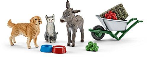 Schleich 41423 Spielzeugfigur, Fütterung auf dem Bauernhof