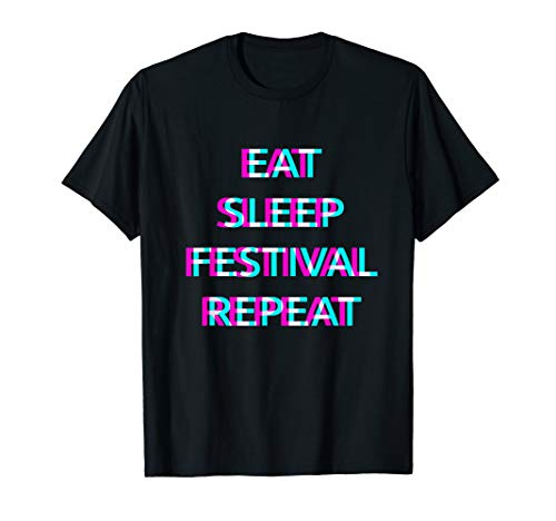 Edm Outfits - EAT SLEEP RAVE REPEAT T-Shirt