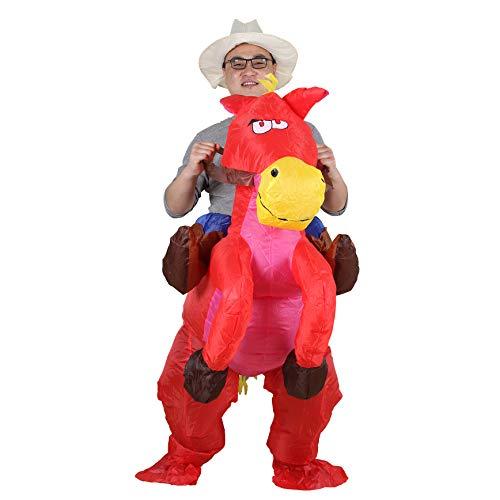 Pferd und Cowboy Fasching Karneval Halloween Cosplay für Audlts (Red) ()