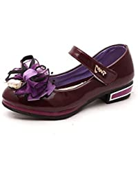BULUTO Girl Shoes Girls' Shoes Libo New Style Hot Sale Outdoor / Evening / Wedding Comfort Loafers Red / Blue / Pink / Purple , blue , us11 / eu28 / uk10 little kids