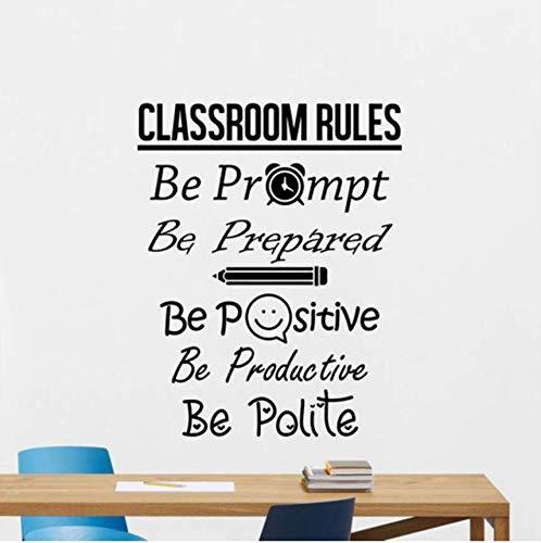 Qthxqa Klassenzimmer Regeln Wandtattoo Zeichen Positiv Poster Bildung Schule Zitat Lehrer Idee Vinyl Aufkleber Dekor Wandkunst Mural42 * 53Cm