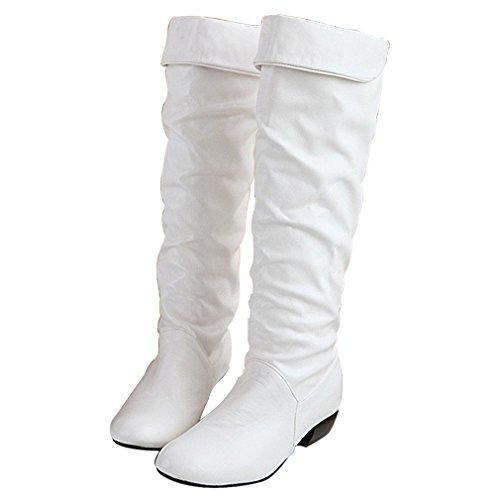 Weiß Stiefel (Blivener  Long Boots,  Damen Kurzschaft)