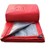GLP Personalizado Grueso PVC Recubierto paño ignífugo paño Anti-Ropa ignífugo paño Alta Temperatura Lluvia Cubierta mercancías Impermeable Lona Rojo (tamaño : 4x8m)