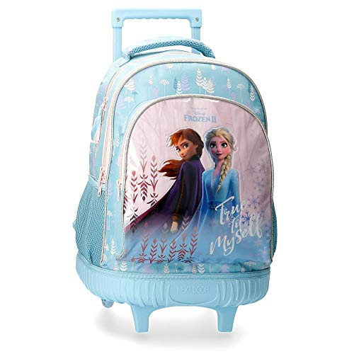 Zaino doppio scomparto con carrello frozen true to myself