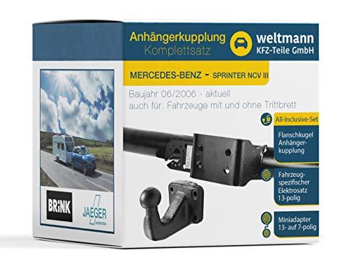 Weltmann Mundo Muñeco AHK Juego Completo de Mercedes Benz Sprinter ncv-116III de 5t, pritsche/Chasis Brink de 4Orificios Remolque + fahrzeugspezifischer Jaeger Automotive eléctrico de 13Pines
