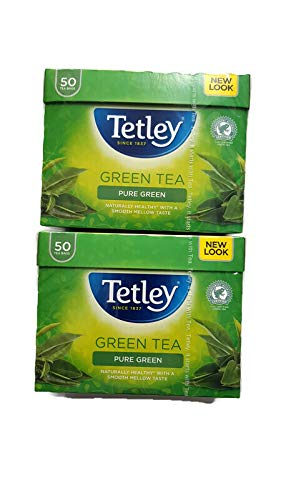 Tetley Pure Green Tea 2 Pack Herbal Bundle