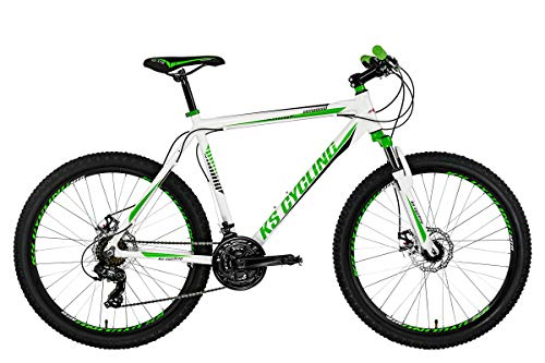 KS Cycling Herren Mountainbike Hardtail 26'' Compound weiß-grün RH 53 cm