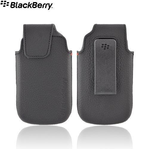ACC-38960-301 Lederholster für BlackBerry Torch 9850/9860, mit drehbarem Gürtelclip, Schwarz 9850 Torch