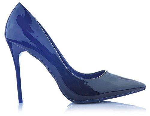 High Heels Stiletto Pumps Ombre Heels Abendschuhe Lack-Optik Damenschuhe Glanz EUR 35 Blau