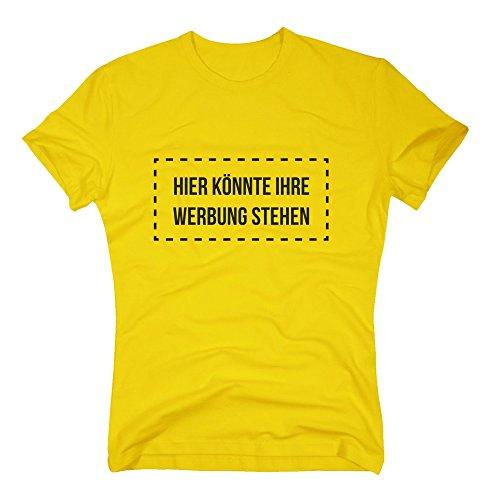 Herren T-Shirt - Hier könnte Ihre Werbung stehen - von SHIRT DEPARTMENT dunkelblau-weiss