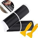 Mengger pegatina protectores umbral puerta 8 Piezas Protectoras fibra de carbono Estribos para proteger el cubiertas pedal coche antiarañazos protección parachoques Adhesiva Pegatinas