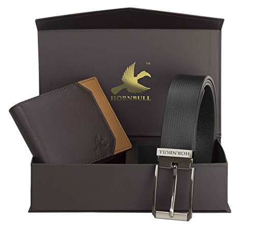 hornbull men's black wallet and belt combo bw9355 Hornbull Men's Black Wallet and Belt Combo BW9355 4120rhJs BL