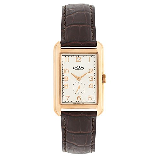 Rotary GS02699/01 - Reloj de Pulsera Hombre, Piel, Color marrón