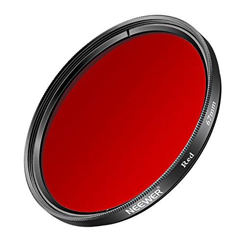 Neewer 67MM Rot Filter für Canon Rebel (T5i, T4i, T3i, T2i), EOS (70D, 700D, 650D, 600D, 550D) DSLR Kameras, aus HD optischem Glas und Aluminiumlegierung Rahmen Red-kamera-filter