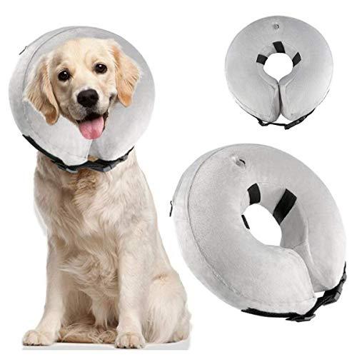 Aufblasbar Halsband for Haustier Hund Katze Bequem Weich Recovery Schwimmen Schutz-mit for Haustier Hund Nackenschutz Kissen (Size : XL) -