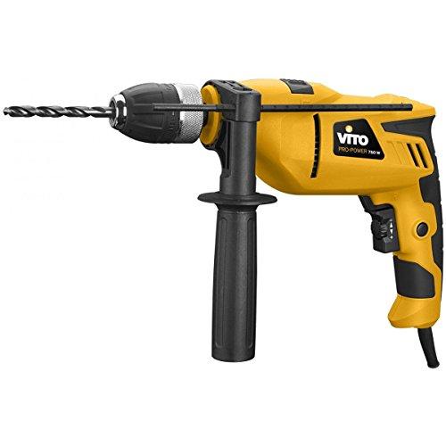 Schlagbohrmaschine Vito 750W–Bohrfutter 13mm Motors Einigkeit–Griff Soft Grip–Tempomat