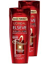 L'Oréal Paris Elsève Color-Vive Shampooing Cheveux Colorés ou Méchés 400ml Lot de 2