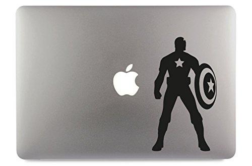 Captain America mit Schild 3 Aufkleber Skin Decal Sticker geeignet für Apple MacBook und alle Anderen Laptop und Notebooks (15