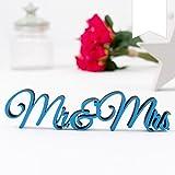 KLEINLAUT 3D-Schriftzug Mr & Mrs in Größe: 25 x 5,9 cm - Dekobuchstaben - 32 Farben zur Wahl - Weiß