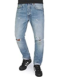 Jeans 501 Customized& Tapered Fit Dirty Dawn Bleu Clair Destroy Homme T38 L34