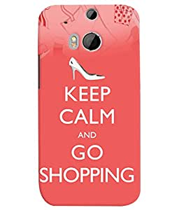 Fuson 3D Printed Quotes Designer back case cover for HTC One M8 - D4566