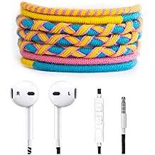 Crossloop Designer Series 3.5mm Universal In-Ear Headphones With Mic And Volume Control (Pink, Yellow & Sky Blue)