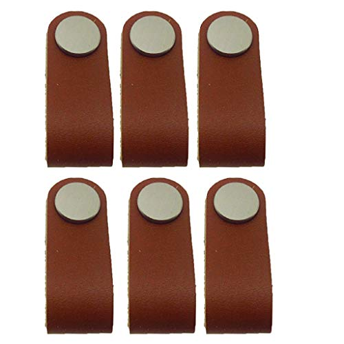 6 x Classic Handgefertigter Koffergriff aus Leder - Traditionellen 6-schublade Kommode