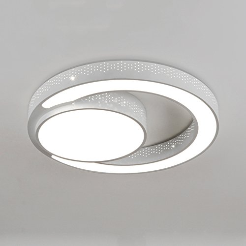 ZR Plafonniers enfants- Plafond Encastré, Patch LED, Dimmable Round Haute Transmittance Pour Salon Chambre Restaurant (Couleur : W-White-light-60 * 10cm-45W)