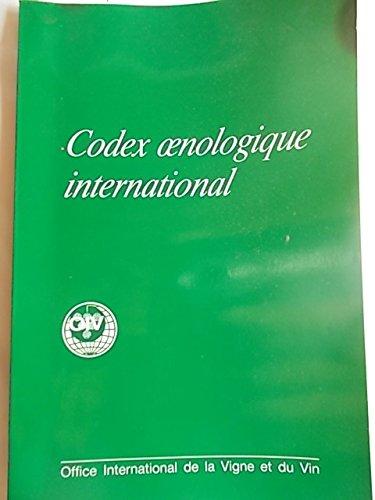 Codex oenologique international. Office international de la vigne et du vin. 1978. Broché. 160 pages. (Viticulture, Oenologie)