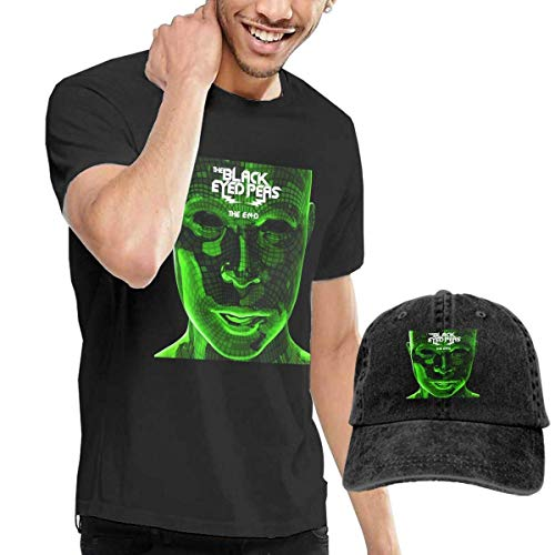 Baostic Herren Kurzarmshirt Men's The Black Eyed Peas The E N D Tee and Washed Denim Baseball Dad Hats Black