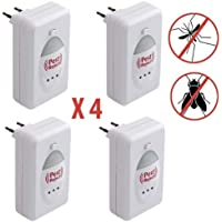 Pest Reject–Electronic Insect/repelente de roedores–Pack de 4