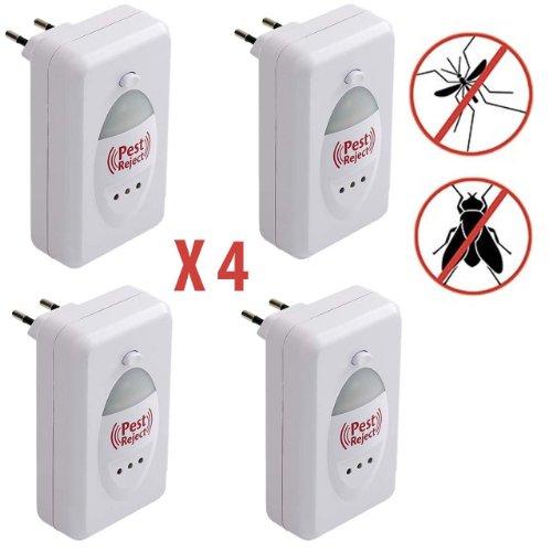 Paquete de 4 unidades de Pest Reject, repelente electrónico de insectos y roedores