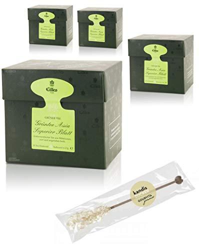 EILLES Tea Diamonds Asia Superior Mega-Sparset mit 4 Boxen und gratis Kandisstick von Gourvita Moments