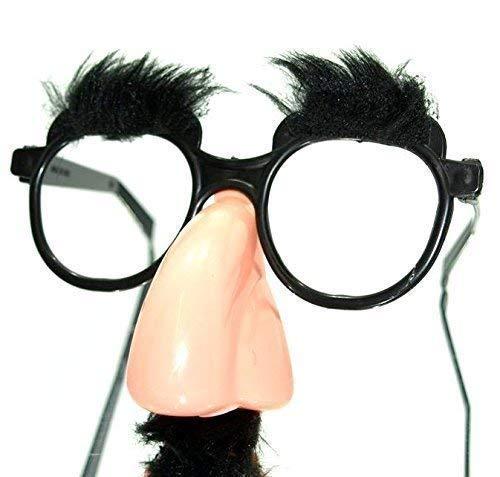 Partybrille mit Schnäuzer (schwarz) für Karneval etc.Für Erwachsenen oder Kind