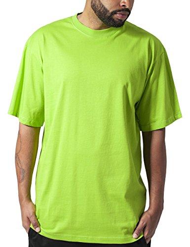Urban Classics TB006 Herren T-Shirt Tall Tee | Oversize Shirt, Grün (Limegreen 146), XXL (Herren Tee Grüner)