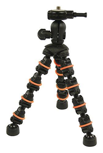 Eurosell Flexibles 18cm Mini Tischstativ Kamerastativ flexibel Tripod zb kompatibel mit Canon Fuji Rollei gorillapod Gopro Canon Nikon Samsung Sony Eaypix Medion Digitalkamera Actioncam SLR etc Casio Canon Eos