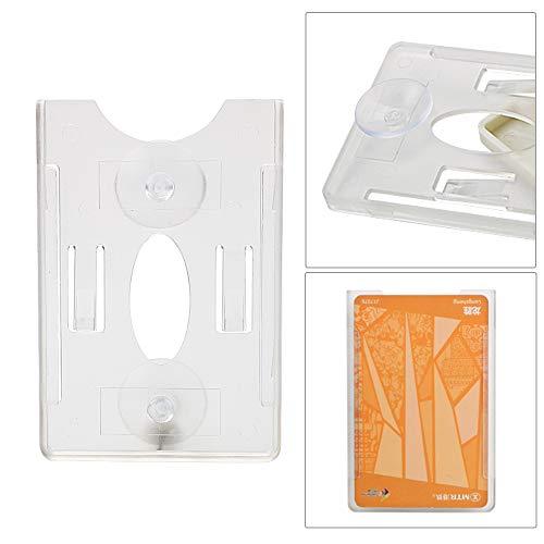 Sucker Card Holder Card Sleeve Interior Zubehör Durable ID IC-Kartenhalter für Windschutzscheibe Glas Tag (Mit Saugnapf)