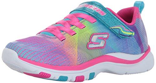 Skechers Mädchen Trainer Lite-Dash N Dazzle Slip On Sneaker, Mehrfarbig (Multicolour), 29 EU