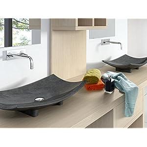 Bathco – Lavabo Bathco Sobre Encimera Modelo Bora Bora Negro 600X400X150