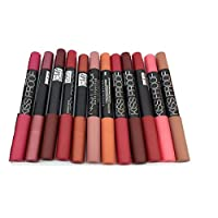Mn Cosmetics Makeup Matte Kiss Proof lipstick, Set of 12 Pieces - P13016
