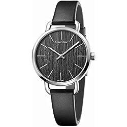 Casual K7B231C1 Calvin Klein - Reloj analógico de Cuarzo para Mujer, Color Negro