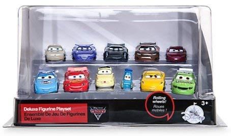 Disney/Pixar Cars 3 - Figurenspielset Deluxe, Set aus 11 detailreichen Cars Figuren, Mit den Charakteren Lightning McQueen, Guido, Luigi, Cruz Ramirez, Jackson Storm, Sterling Silver und weiteren