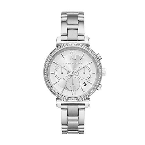 79029a43d4fb Michael Kors Sofie Reloj de Mujer Cuarzo 47mm Correa y Caja de Acero MK6575