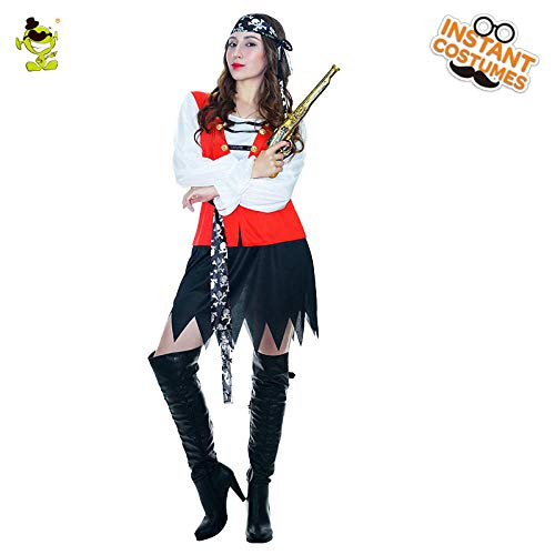 GAOGUAIG AA Sexy Damen Piraten Kostüm Damen Piraten der Karibik Halloween Masked Costumes SD (Color : Onecolor, Size : Onesize)