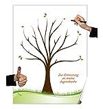 Herzl-Manufaktur Poster Jugendweihe Partyspiel Fingerabdruck Baum Gästebuch (Jugendweihe)