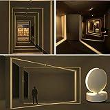 Plafoniera LED Soffitto Moderna, 10W, 3000K Bianco Caldo, Girevole a 360 °, Applique da Parete Interno e EsternoModerno, IP20, Adatto per Soggiorno Corridoio Pareti Interne ed Esterne Davanzale