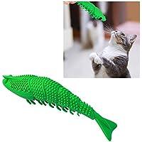 Qazwsxedc para Mascotas Bite PLT Catnip Fish dentición Palo Divertido Gato Juguete del Cepillo de Dientes for Mascotas